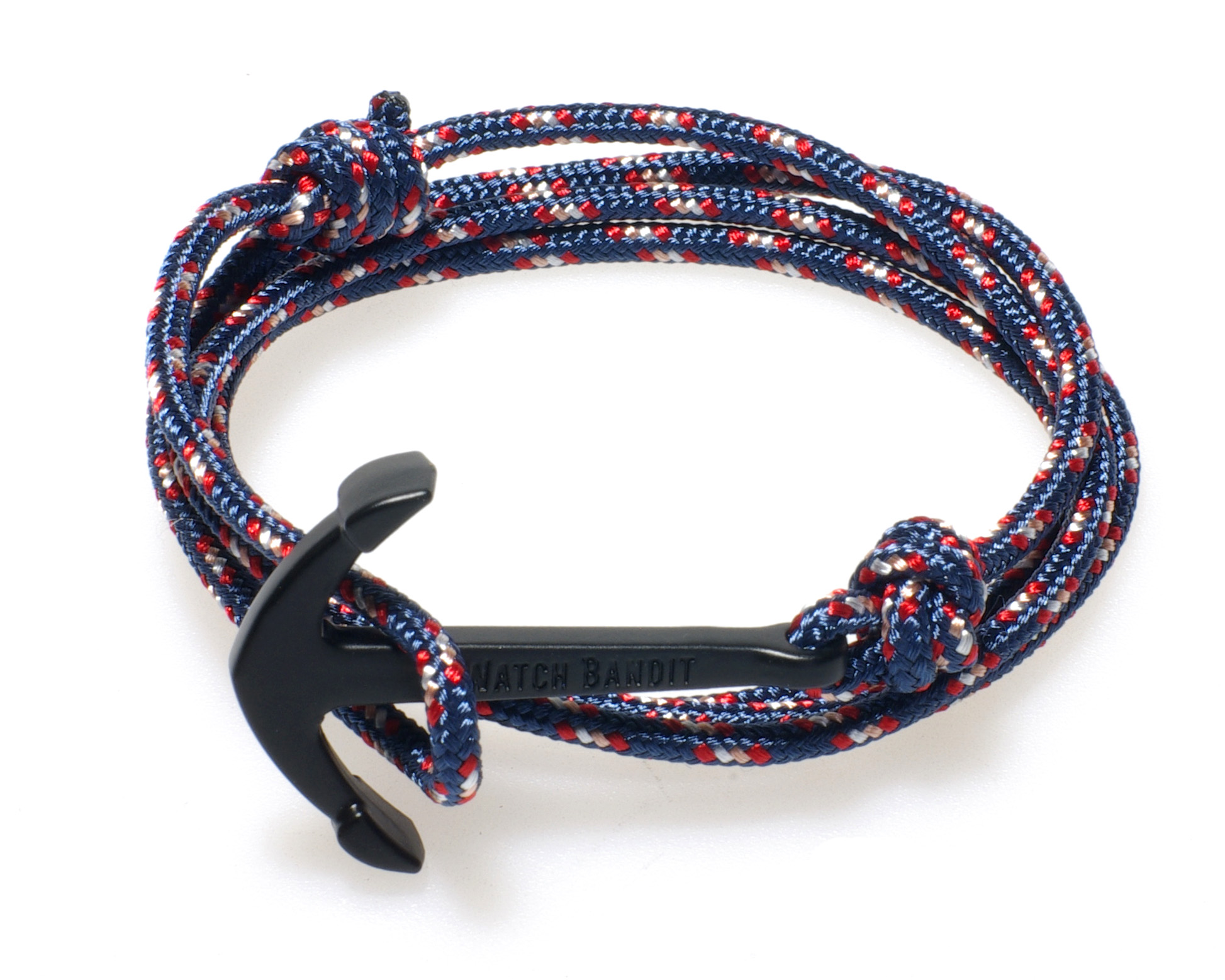 steel sea nautical stainless leather sailing cord products rope bracelet mens